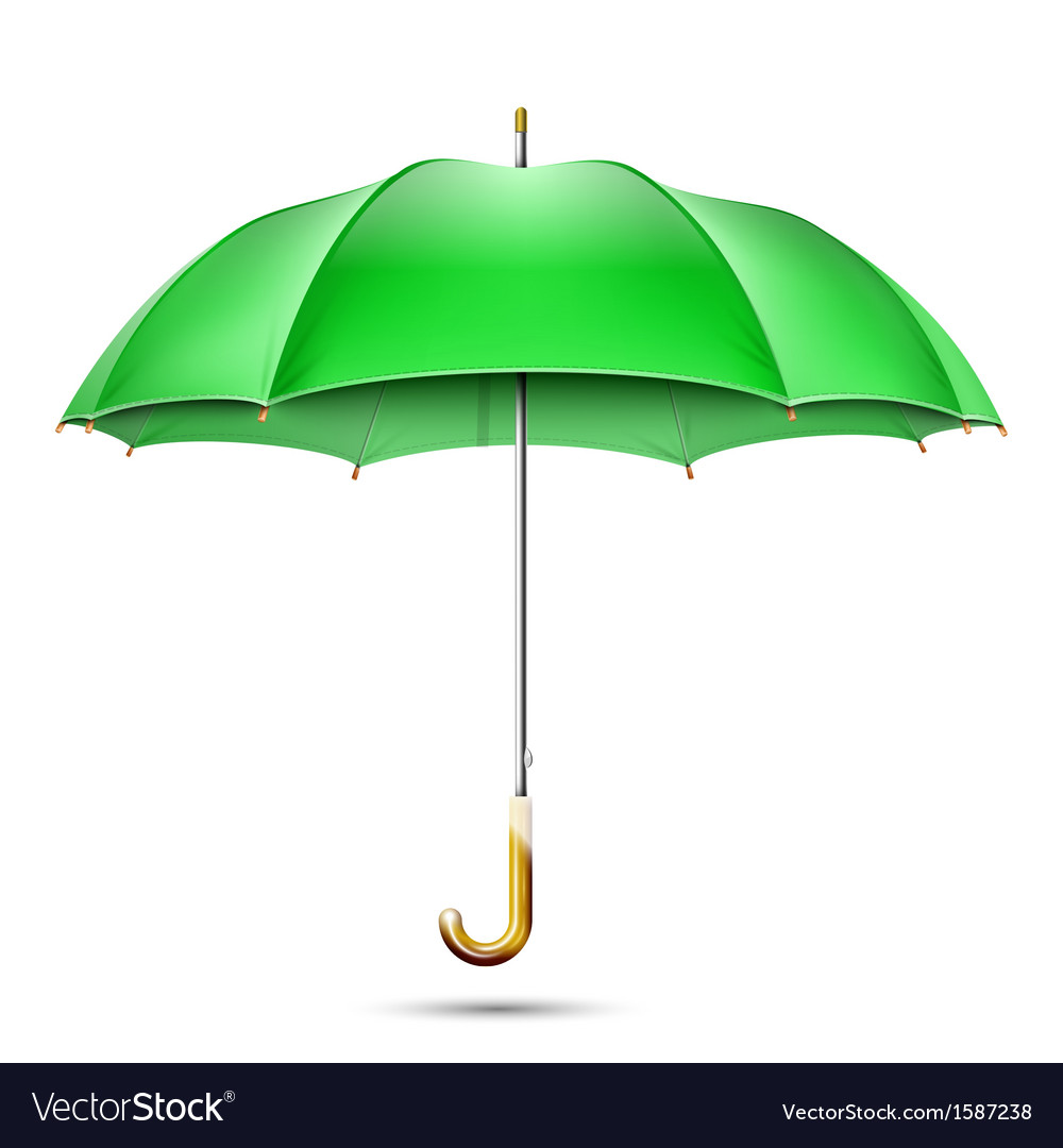 Realistic detailed green umbrella vector | Price: 1 Credit (USD $1)