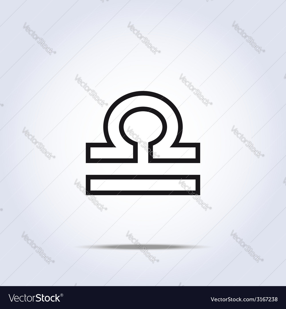 Simplistic libra zodiac star sign vector | Price: 1 Credit (USD $1)
