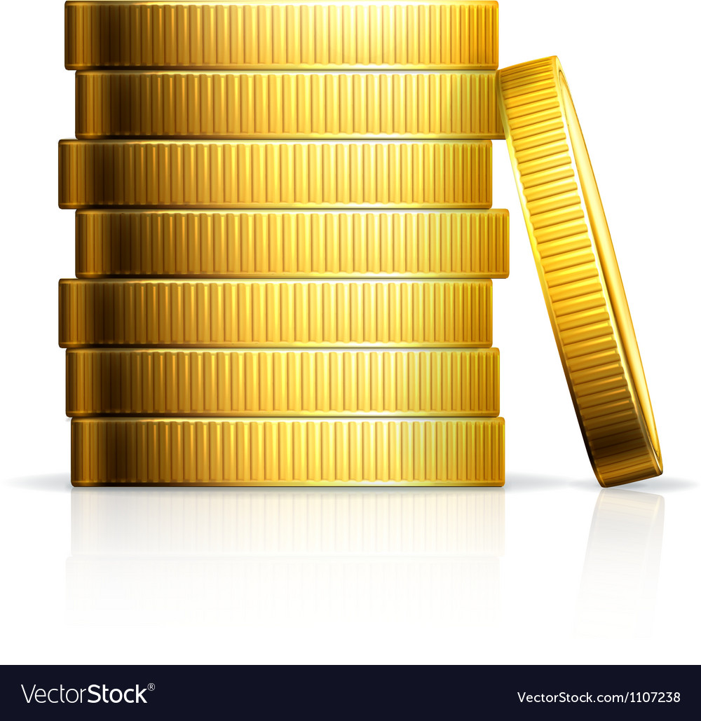 Stack of coins vector | Price: 3 Credit (USD $3)