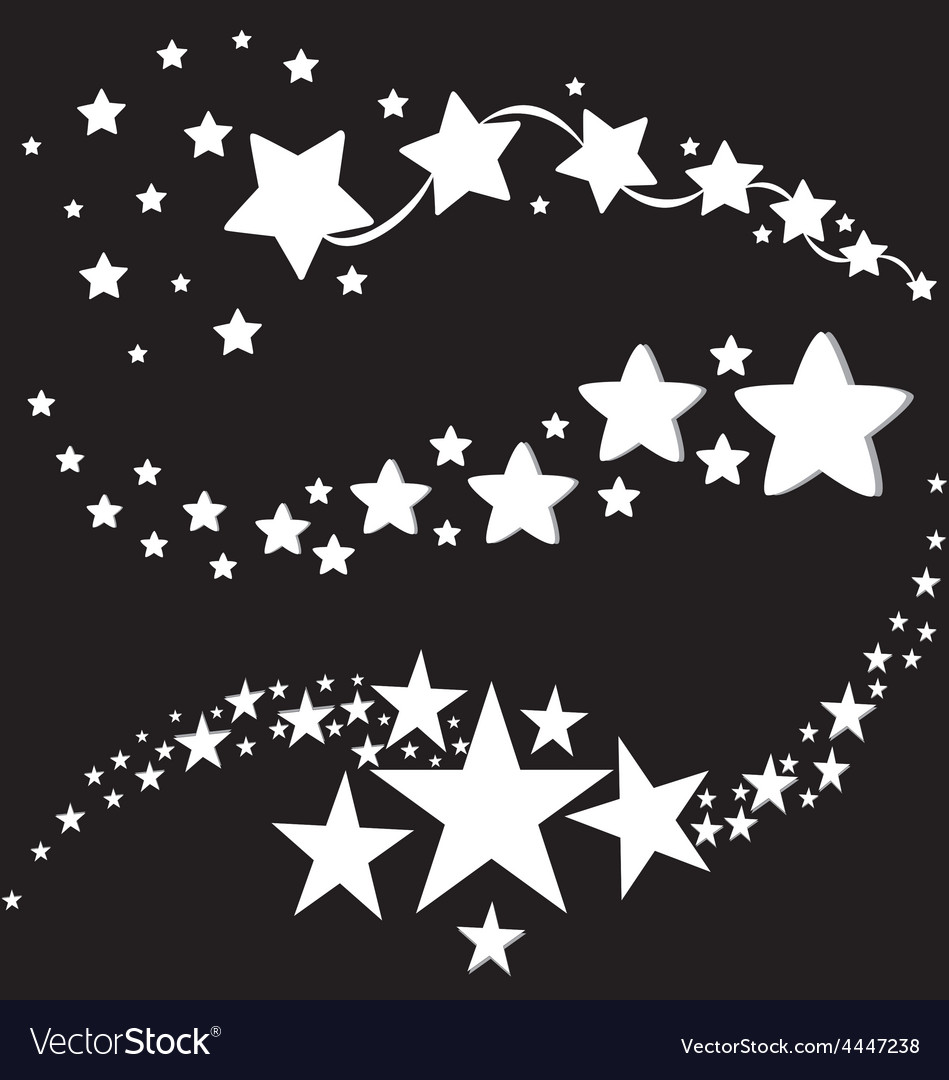 White stars icons vector | Price: 1 Credit (USD $1)