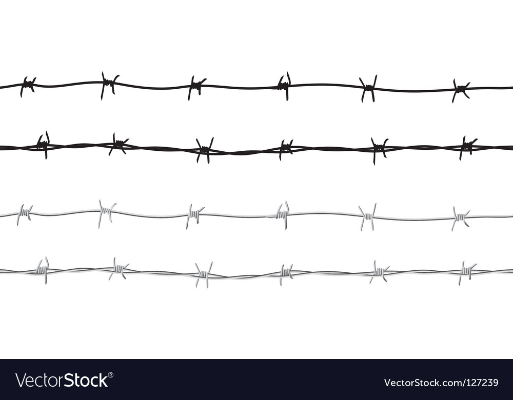 Barbed wire border vector | Price: 1 Credit (USD $1)