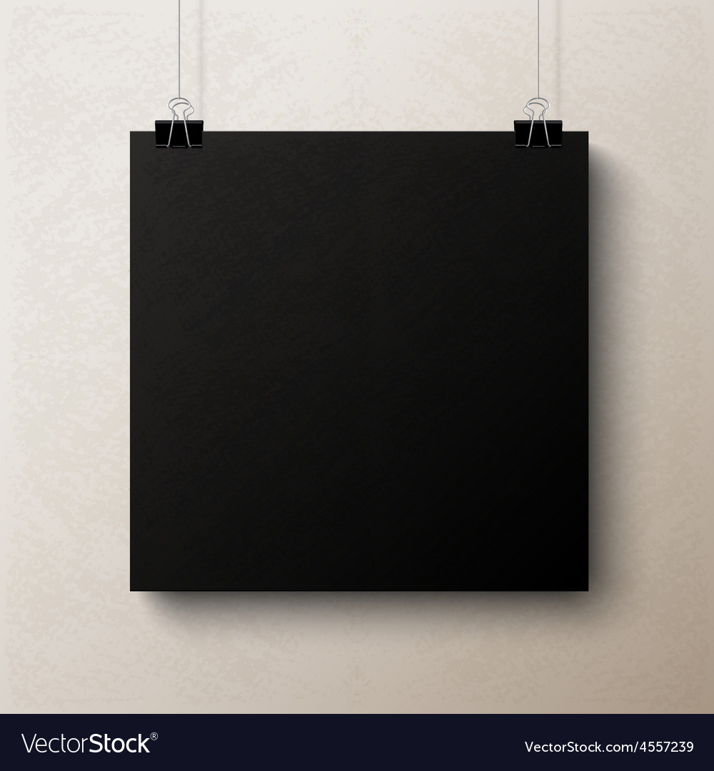 Black blank square sheet of paper template vector | Price: 1 Credit (USD $1)