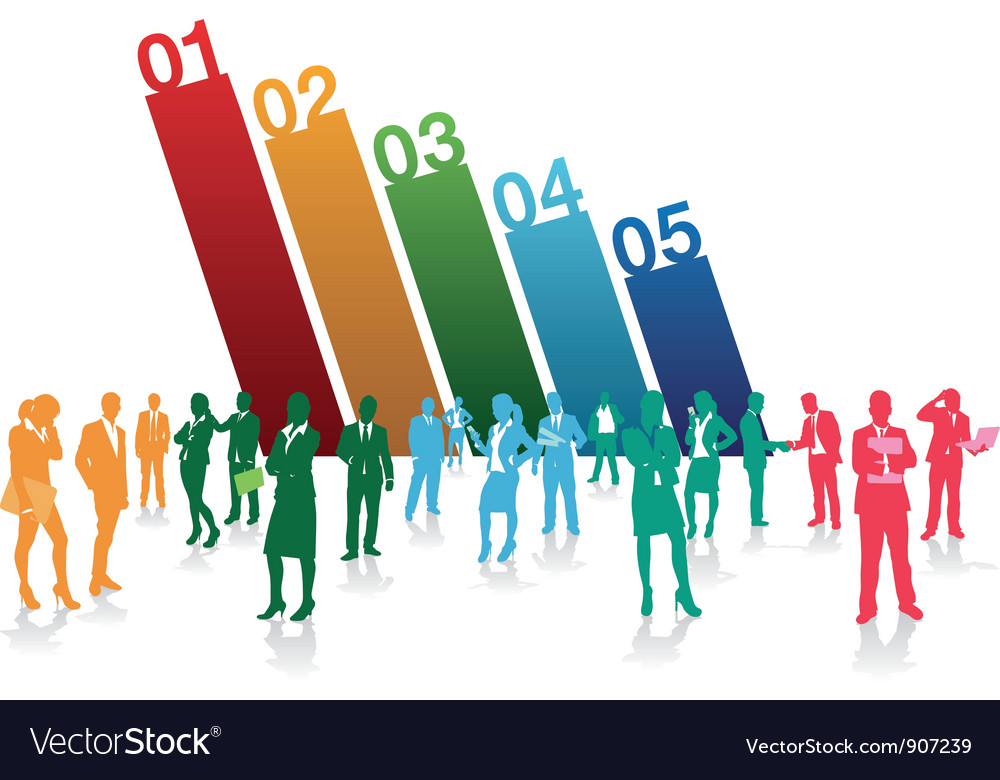 Business people numbers vector | Price: 1 Credit (USD $1)