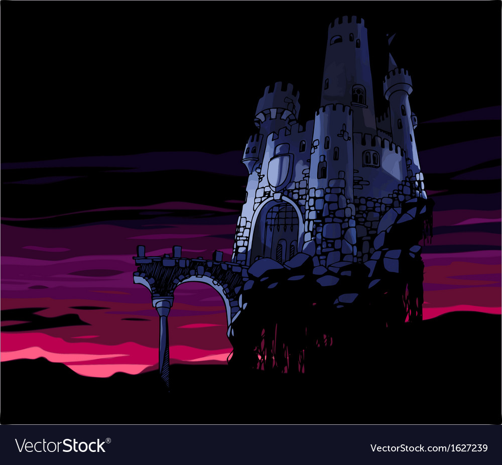 Dark castle vector | Price: 1 Credit (USD $1)