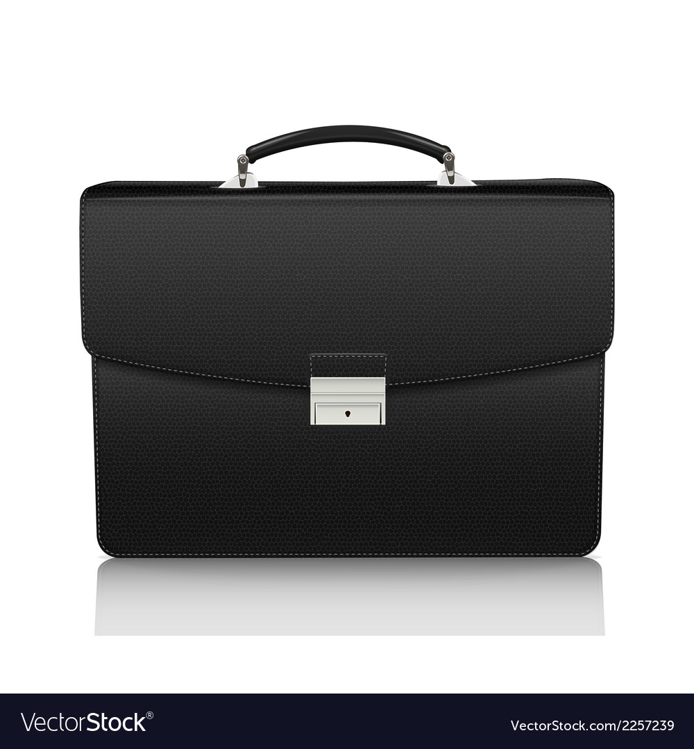 Detailed black briefcase with leather texture vector | Price: 1 Credit (USD $1)