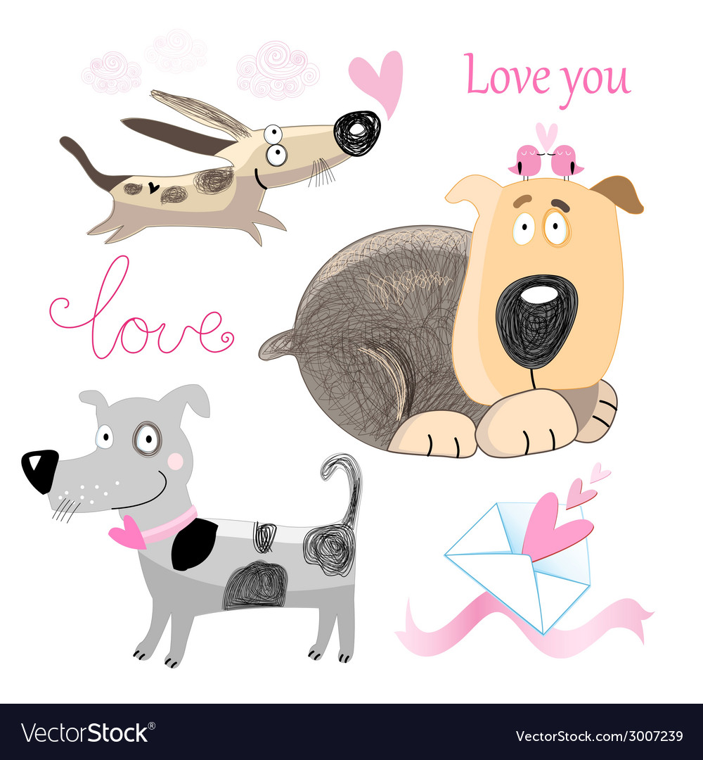 Dog lovers set vector   Price: 1 Credit (USD $1)