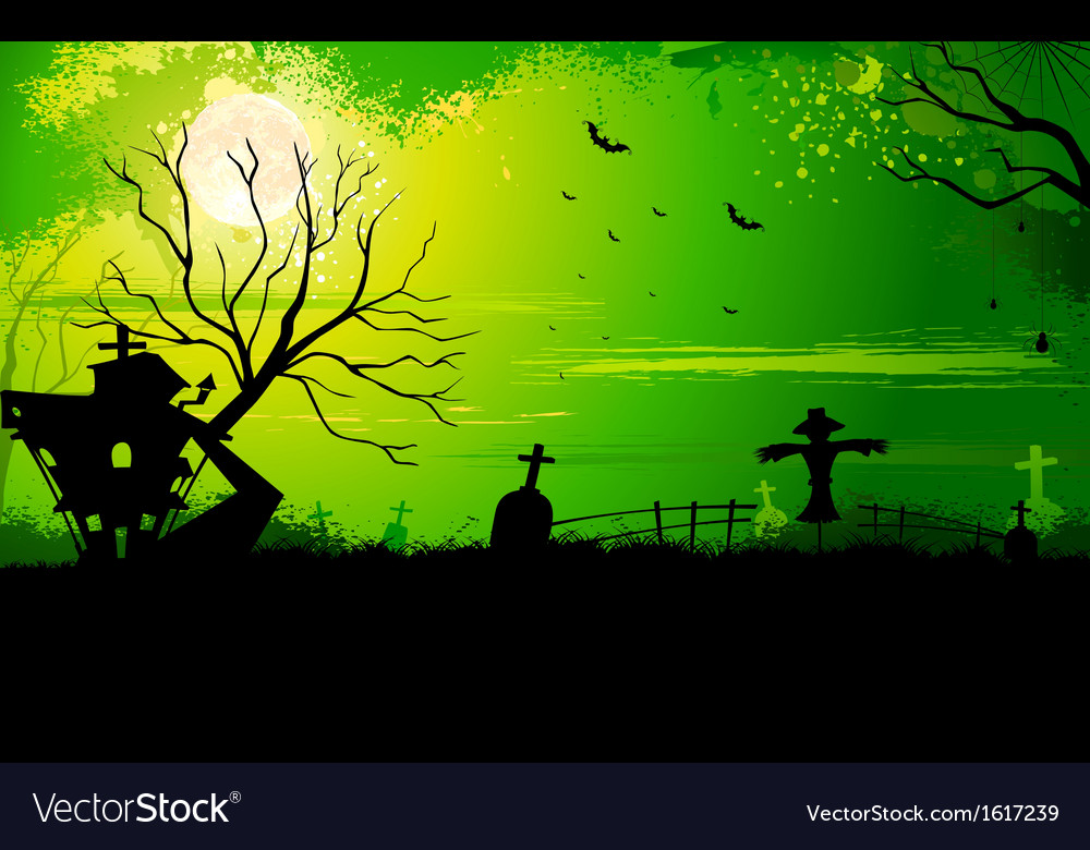 Haunted halloween house vector | Price: 1 Credit (USD $1)