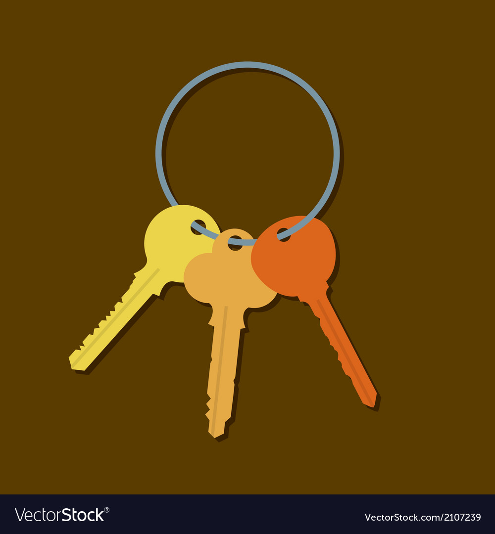 Keys in a bunch vector | Price: 1 Credit (USD $1)