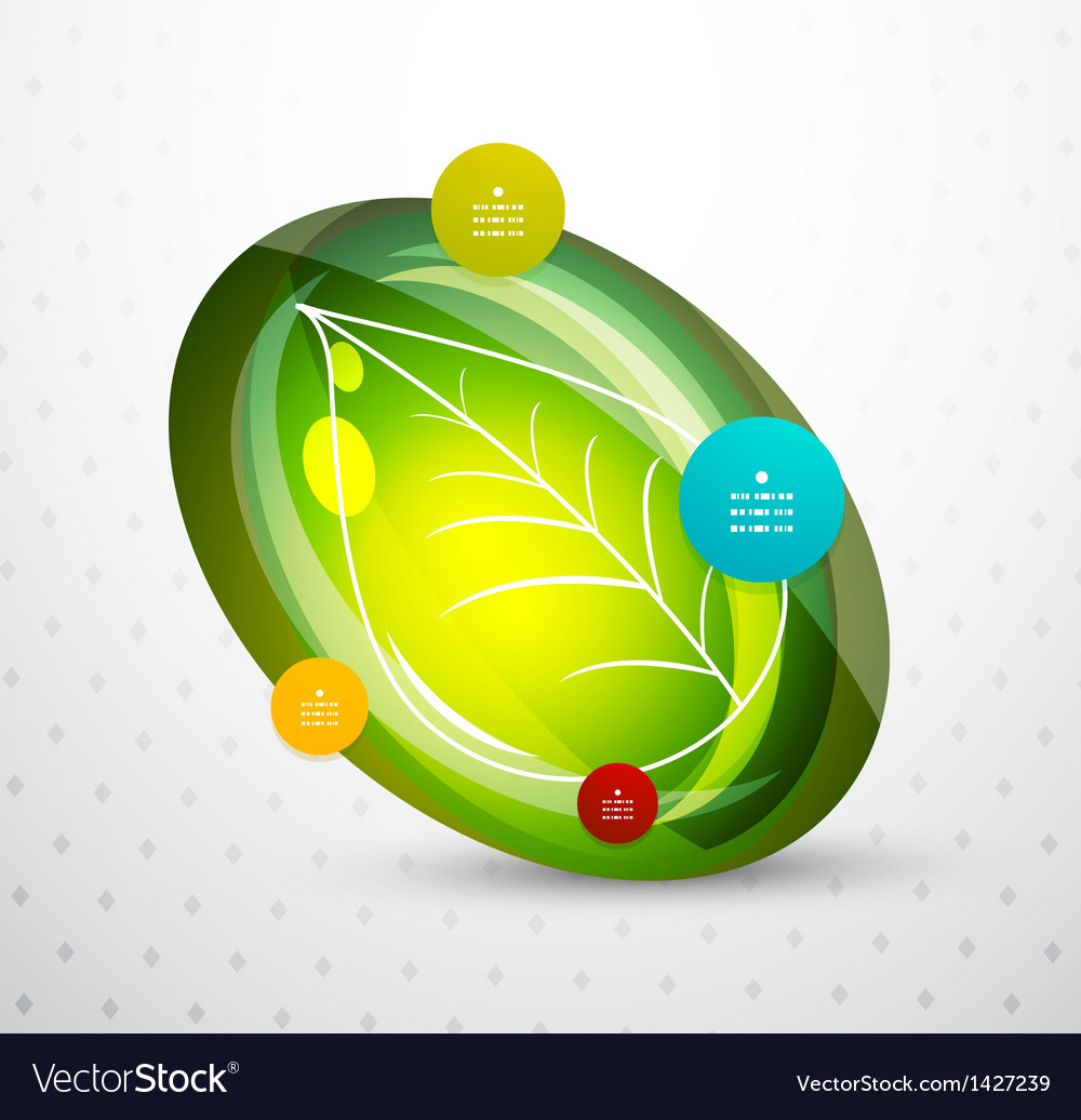 Leaf nature infographics modern template vector | Price: 1 Credit (USD $1)