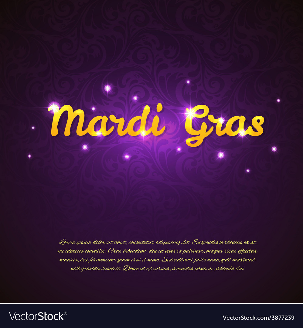 Mardi gras beauty background vector | Price: 1 Credit (USD $1)
