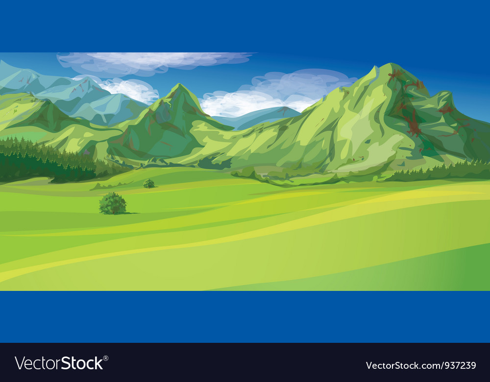 Mountain landscape vector | Price: 3 Credit (USD $3)