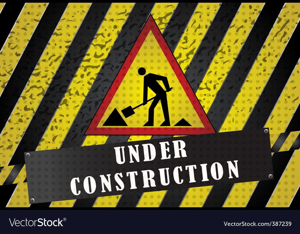 Road works background vector   Price: 1 Credit (USD $1)