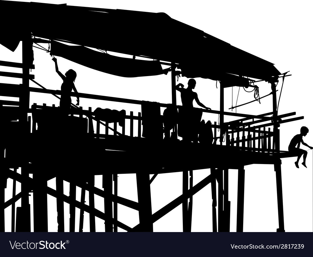 Waterside shack vector | Price: 1 Credit (USD $1)