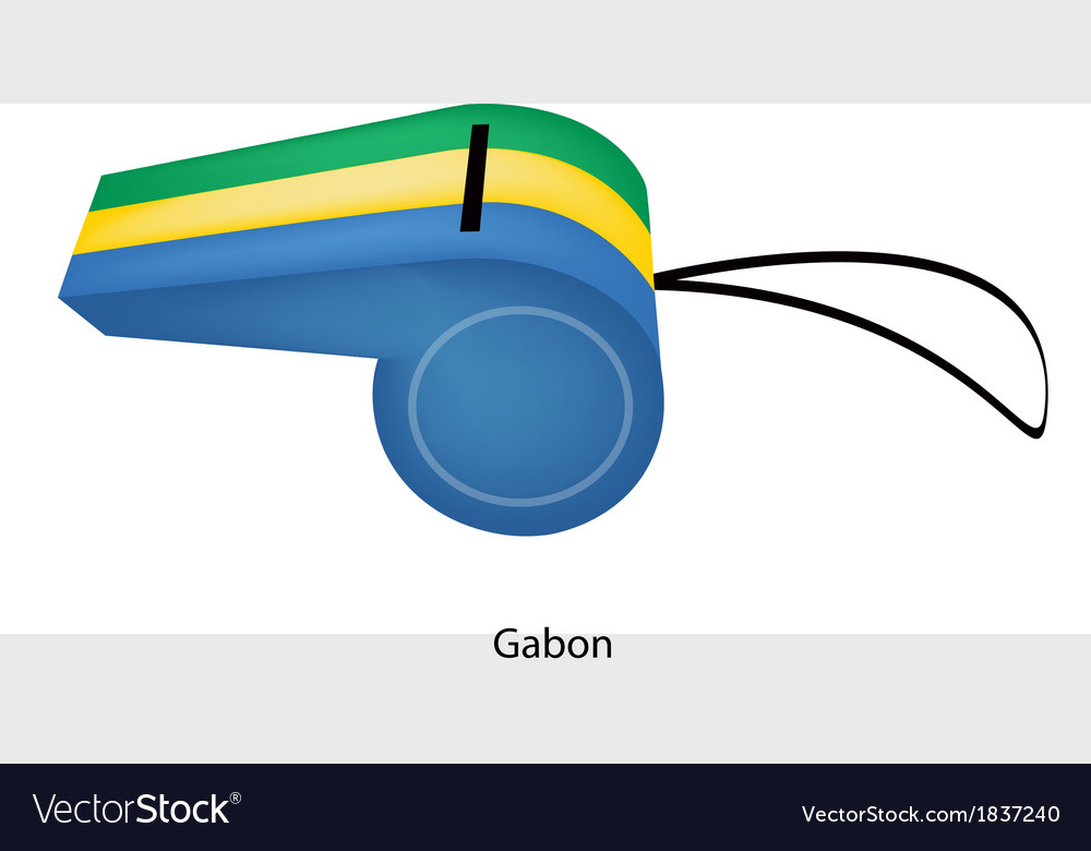 A beautiful whistle of the gabonese republic vector | Price: 1 Credit (USD $1)