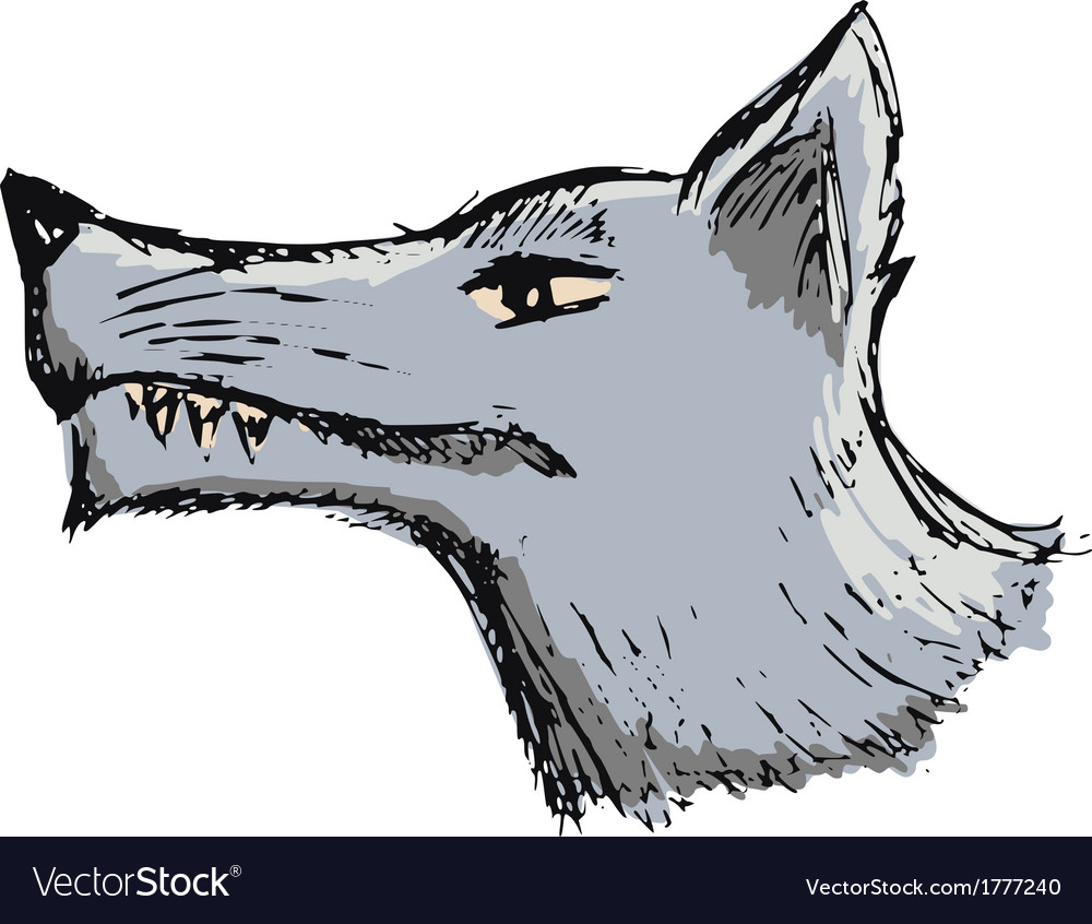 Cartoon wolf vector | Price: 1 Credit (USD $1)