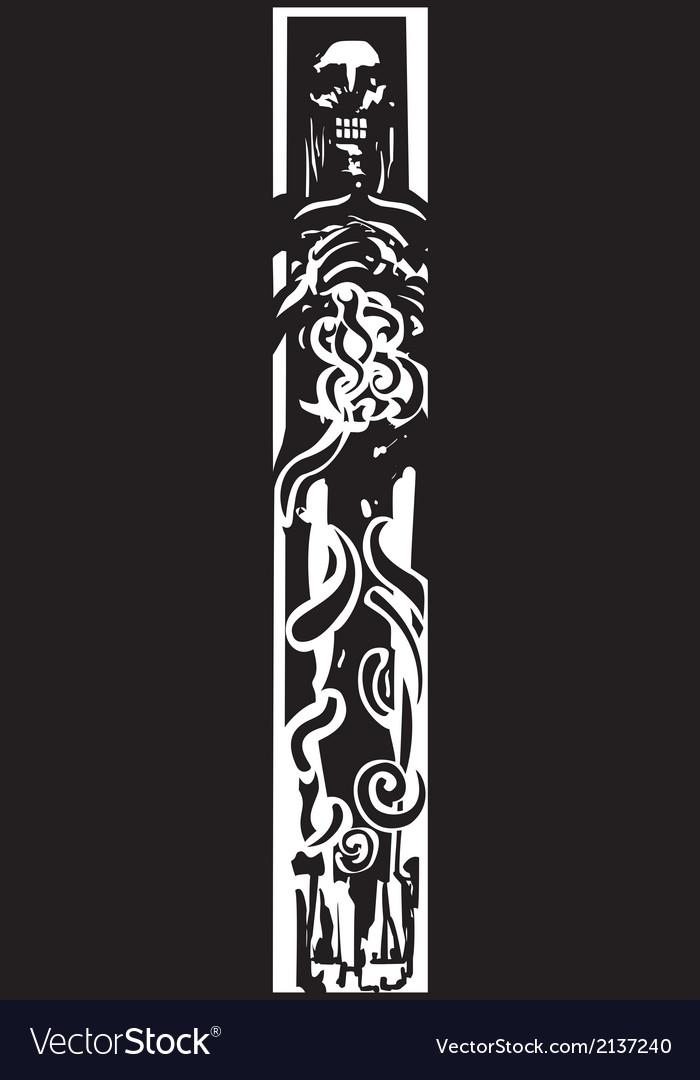 Dead viking vector | Price: 1 Credit (USD $1)
