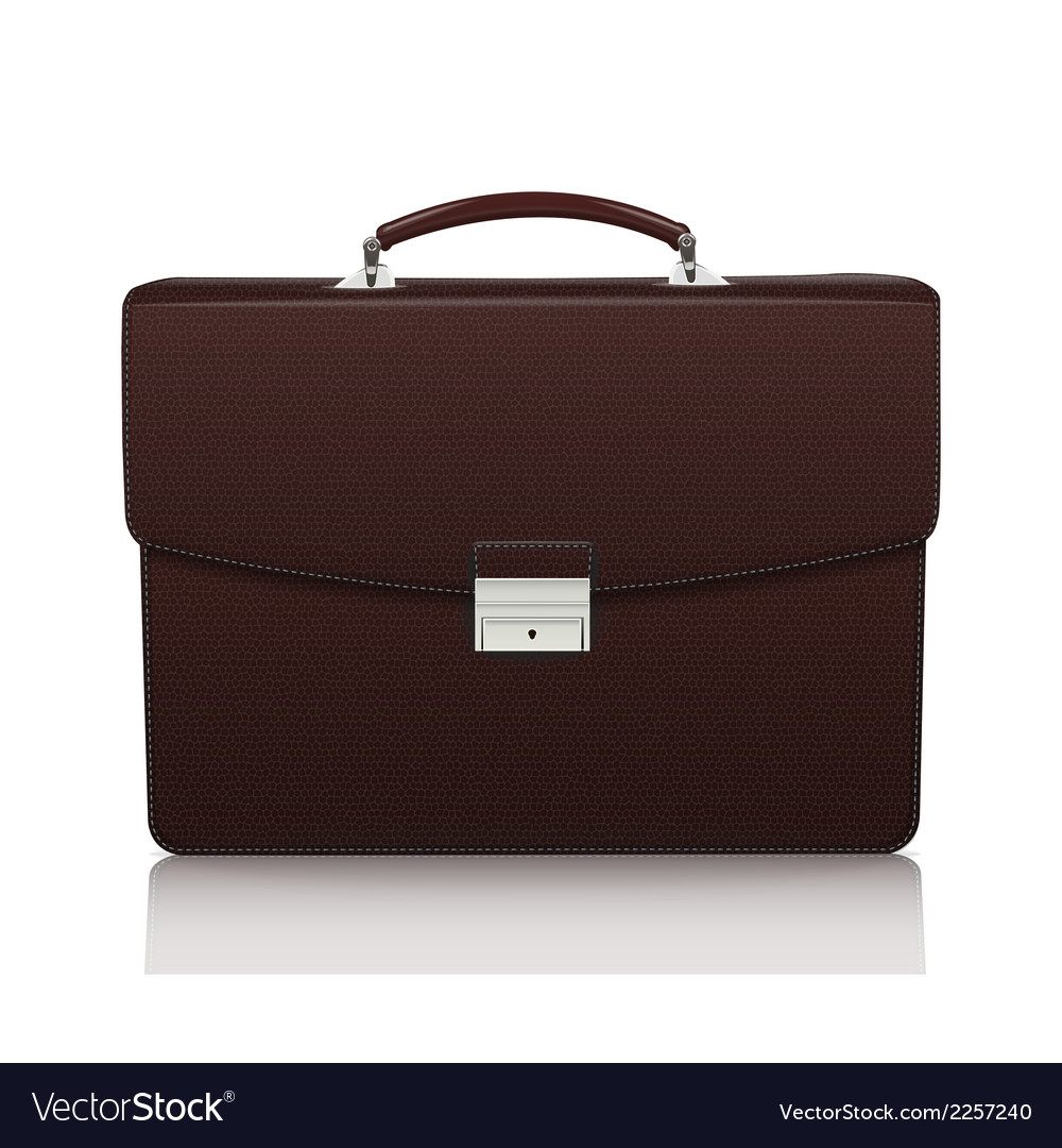 Detailed dark brown briefcase with leather texture vector | Price: 1 Credit (USD $1)