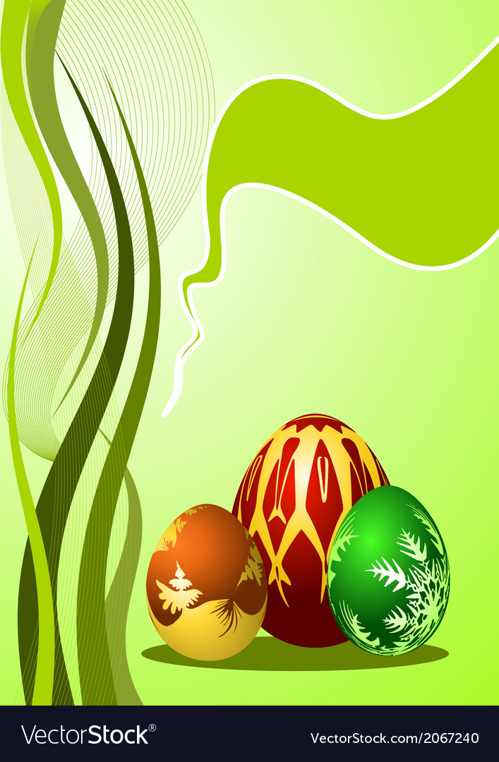 Easter eggs with ornament vector | Price: 1 Credit (USD $1)