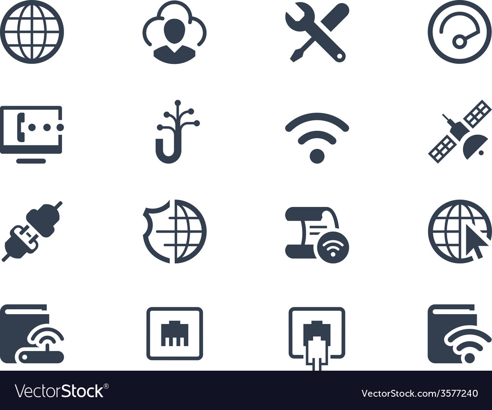 Internet and provider icons vector | Price: 1 Credit (USD $1)