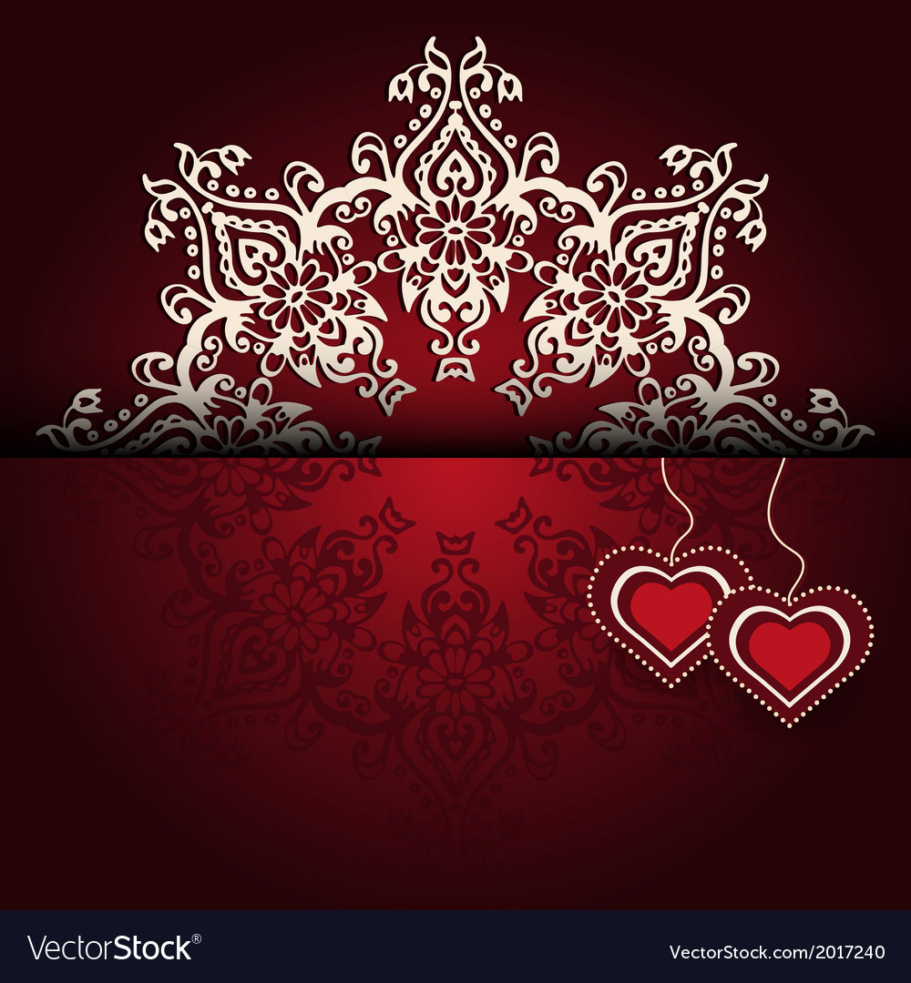 Royal luxury valentines day lace background vector | Price: 1 Credit (USD $1)