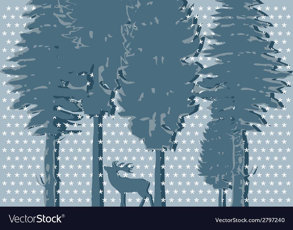 Silhouette of deer vector   Price: 1 Credit (USD $1)