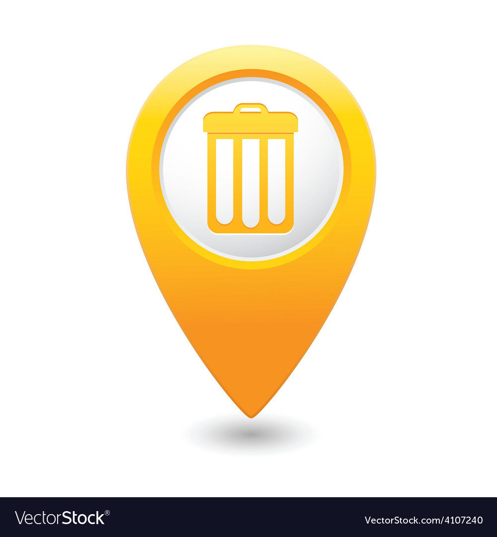 Urn map pointer yellow vector   Price: 1 Credit (USD $1)
