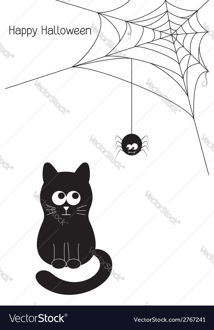 Cat and spider vector | Price: 1 Credit (USD $1)