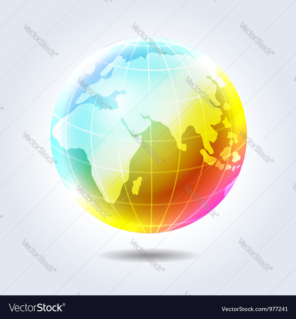 Earth rainbow icon vector | Price:  Credit (USD $)