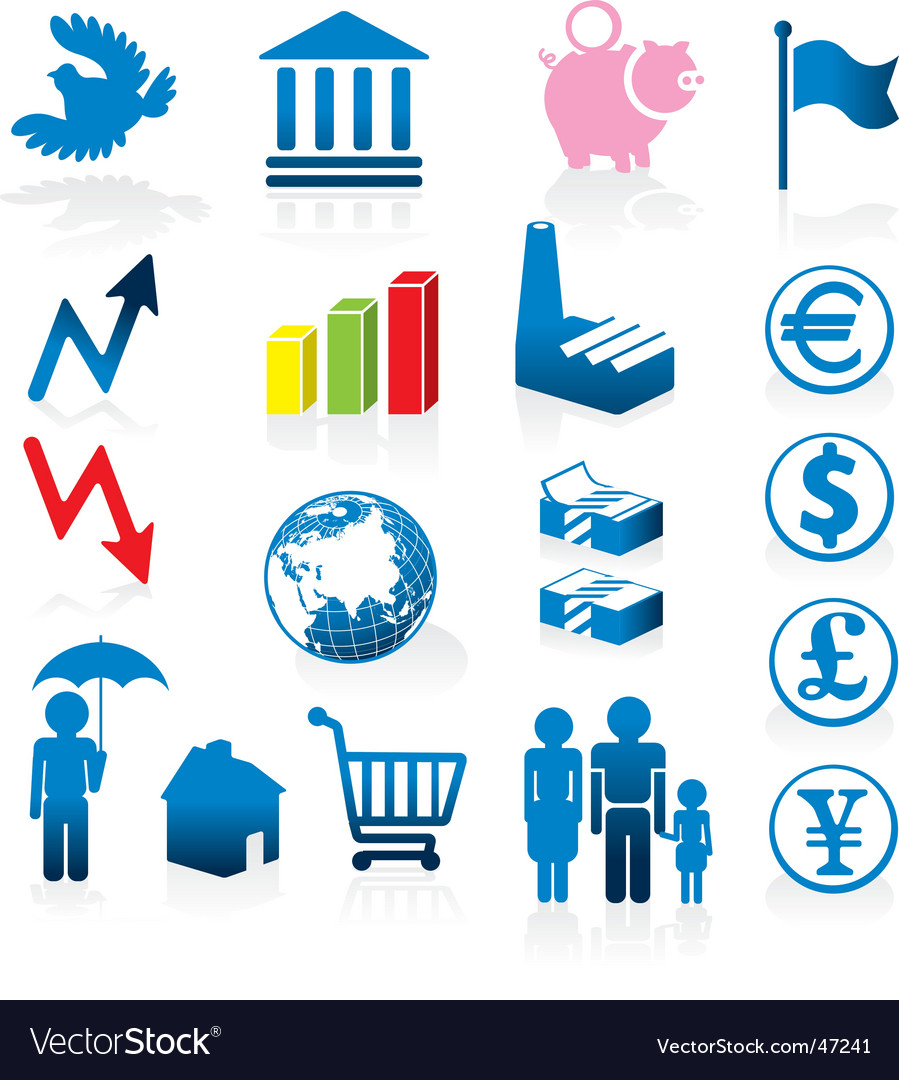 Economy icons vector | Price: 1 Credit (USD $1)