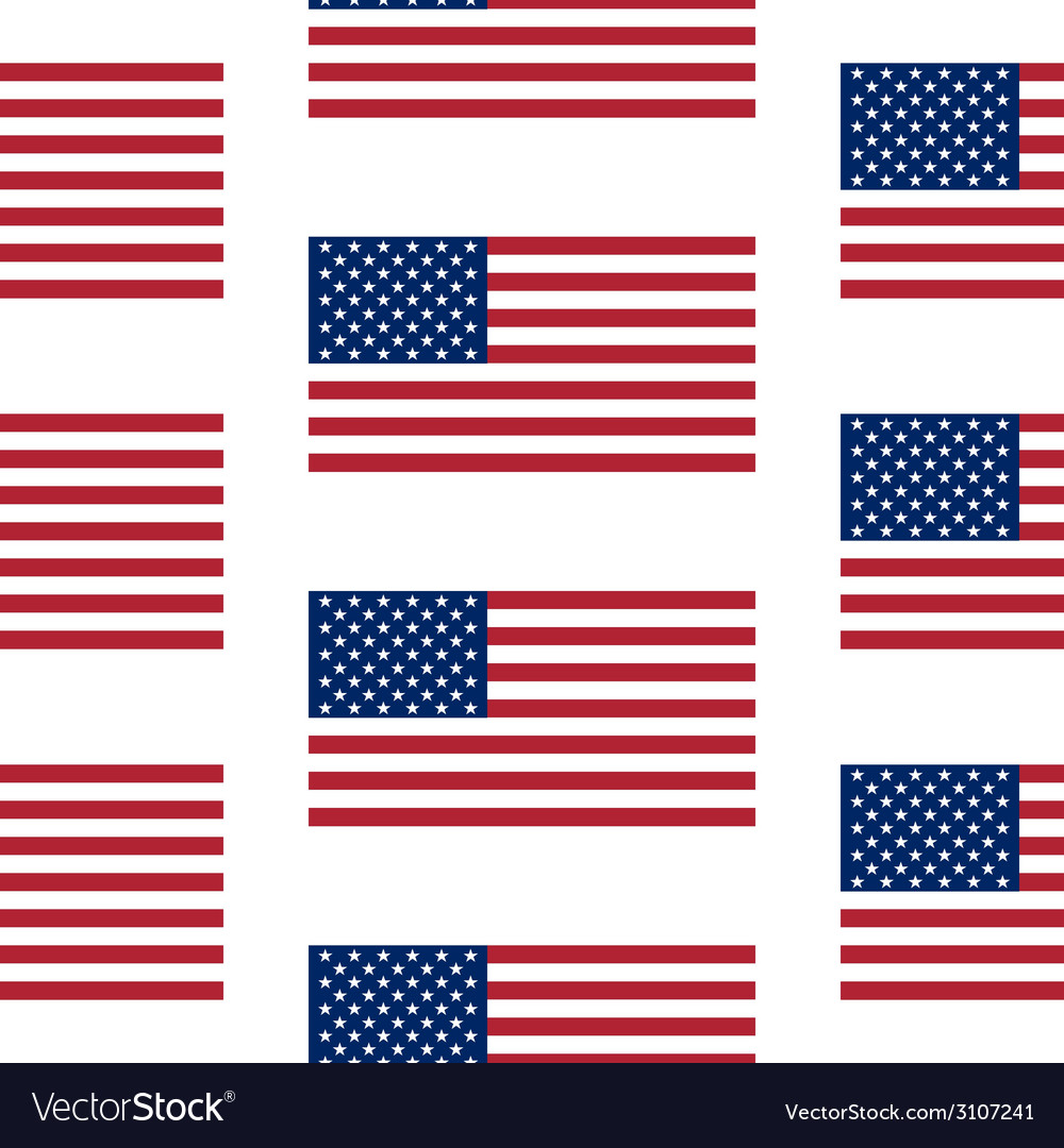 Flag of the united states seamless pattern vector | Price: 1 Credit (USD $1)