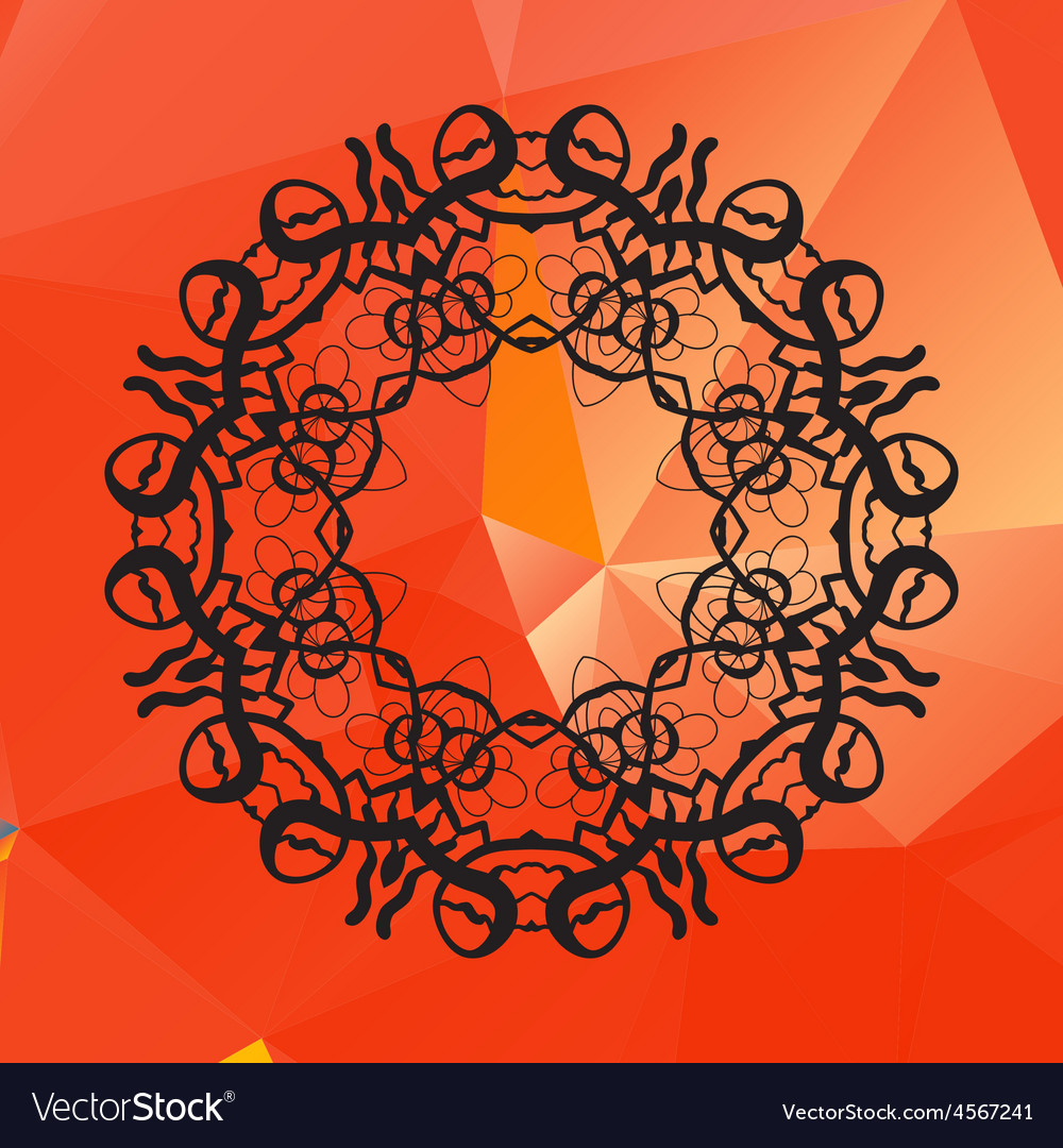 Geometric circle element made of of red vector | Price: 1 Credit (USD $1)