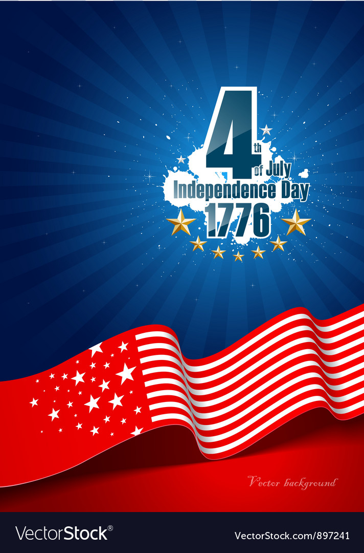 Independence day poster background vector | Price: 1 Credit (USD $1)