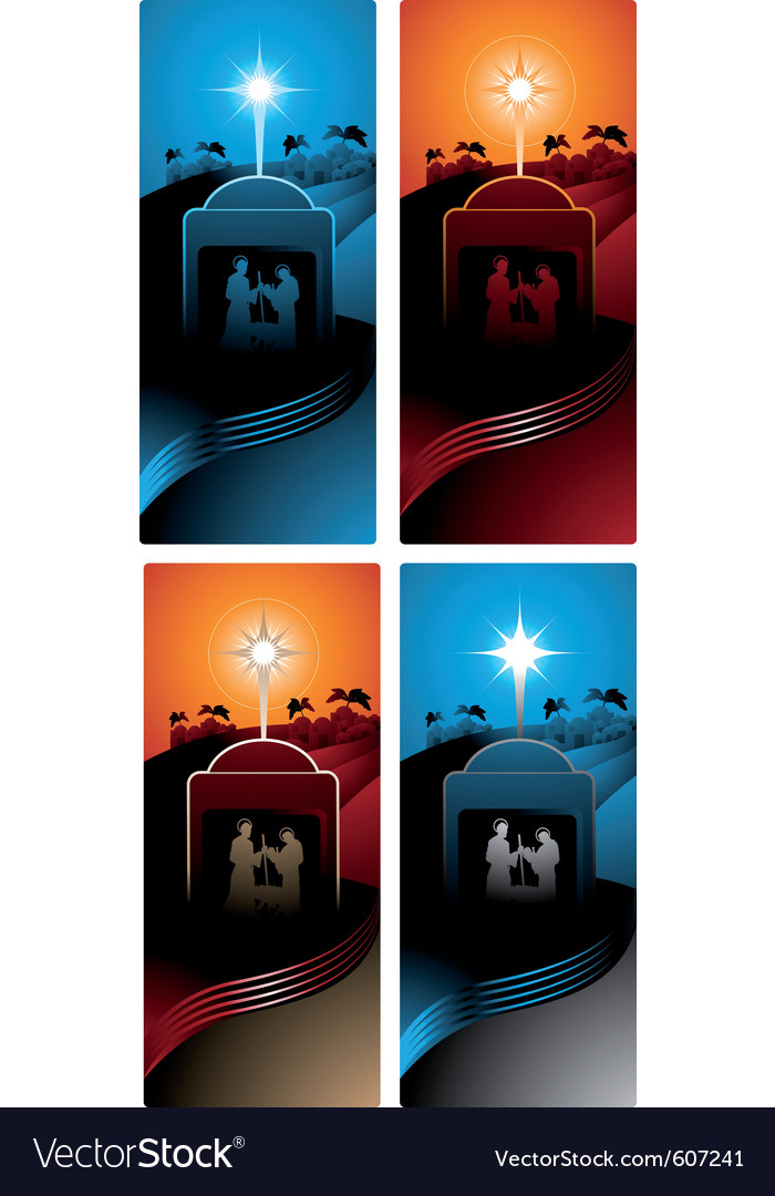 Nativity vertical banners vector | Price: 1 Credit (USD $1)