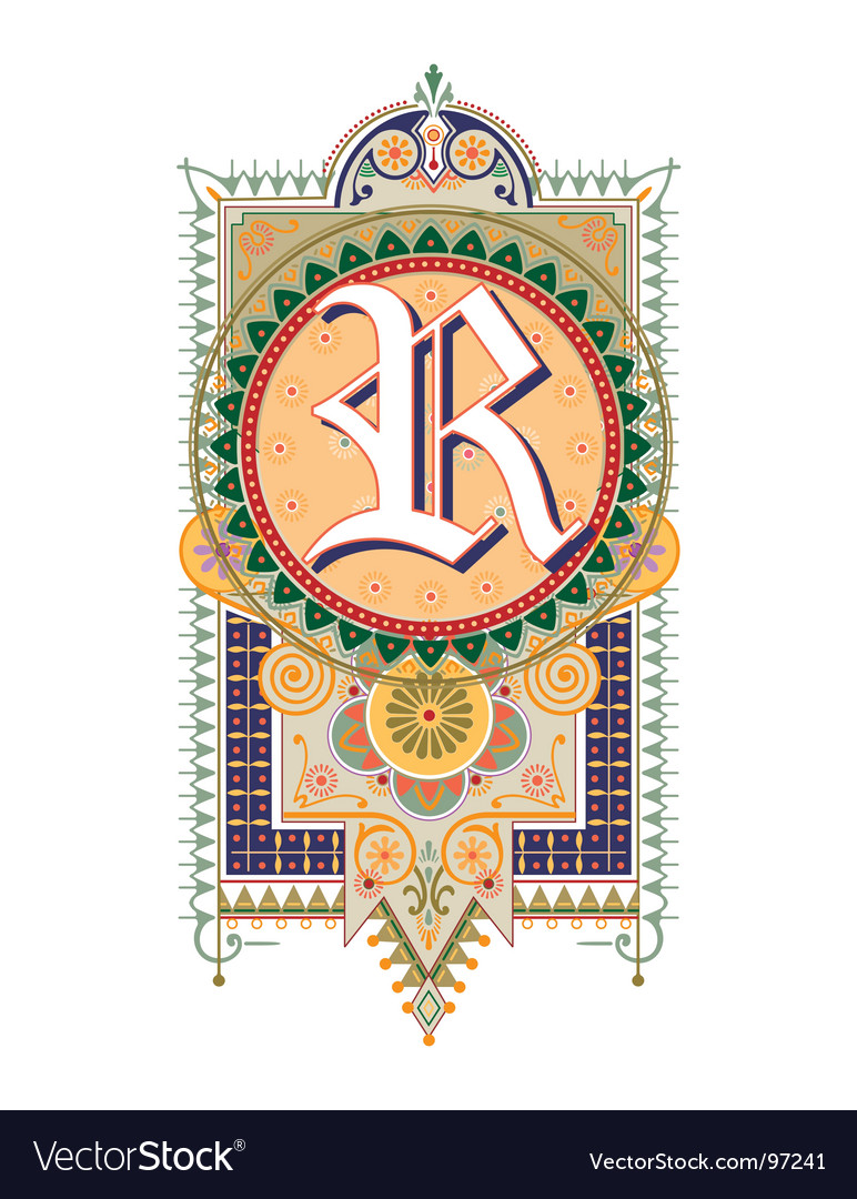 Royal letter r vector | Price: 1 Credit (USD $1)
