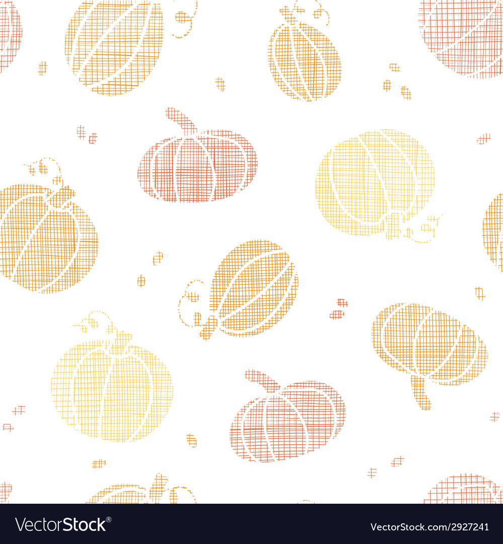 Thanksgiving pumpkins textile seamless pattern vector | Price: 1 Credit (USD $1)