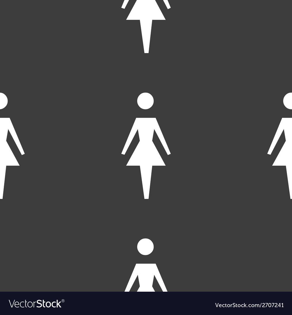 Woman restroom web icon flat design seamless vector | Price: 1 Credit (USD $1)