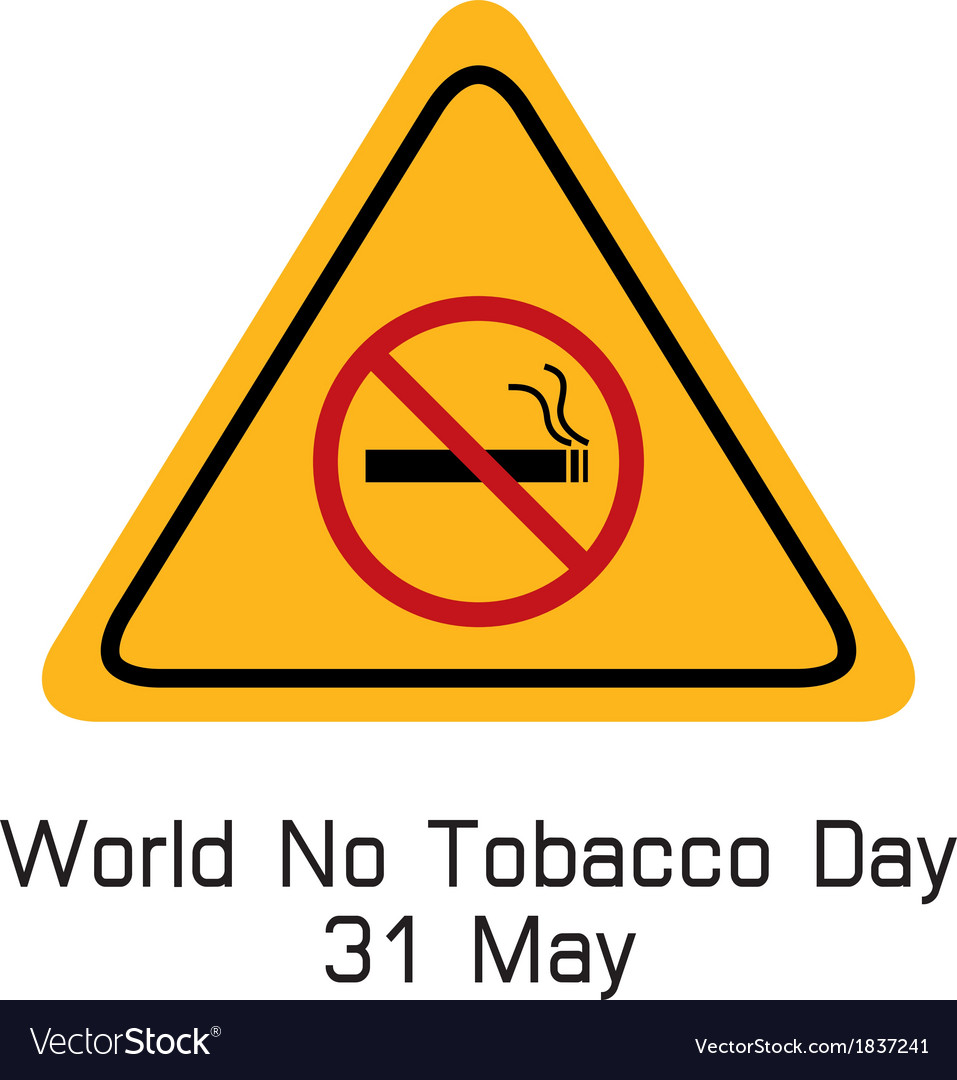 World no tobacco day smoking warning vector | Price: 1 Credit (USD $1)