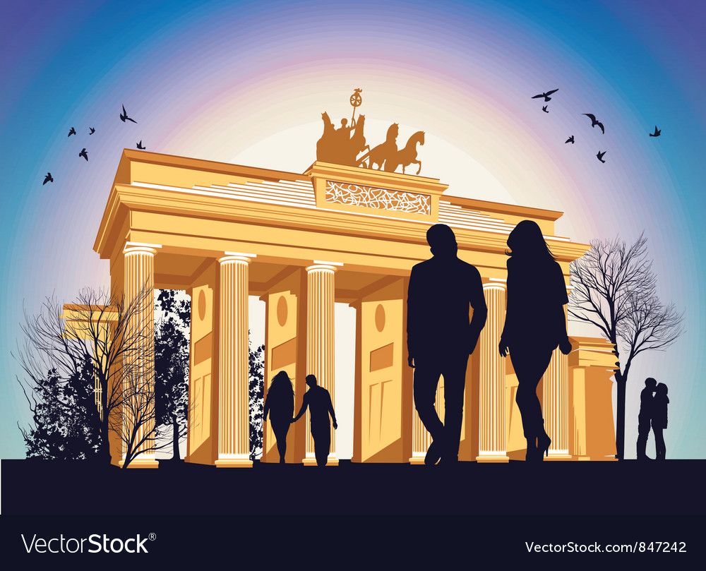 Brandenburg gate vector | Price: 1 Credit (USD $1)