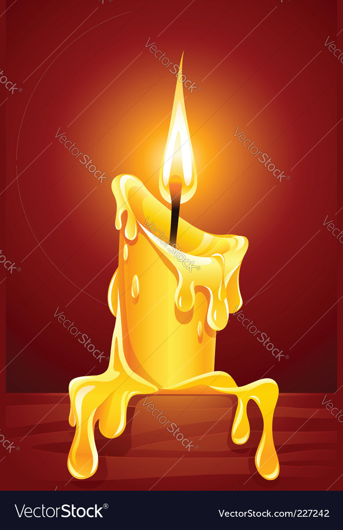 Burning candle vector | Price: 3 Credit (USD $3)