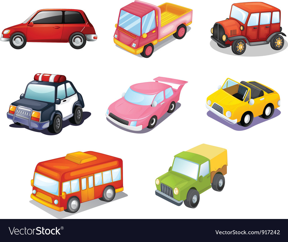 Cars isolated on white vector | Price: 3 Credit (USD $3)