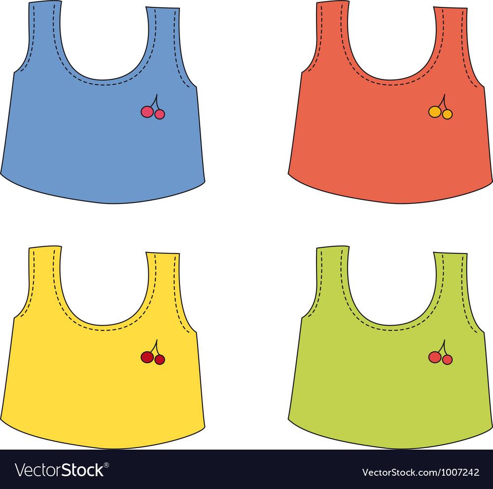 Cartoon apparel set vector | Price: 1 Credit (USD $1)