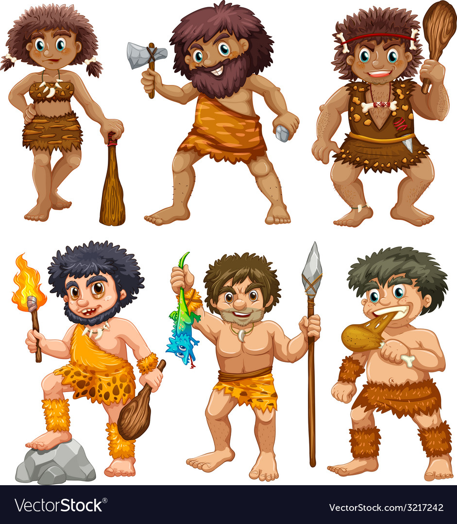 Caveman vector | Price: 3 Credit (USD $3)