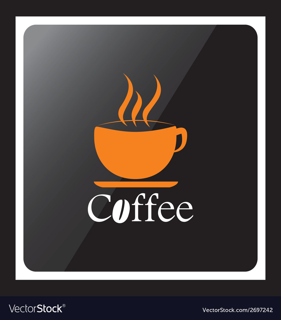 Coffee cup design icon with black background vector | Price: 1 Credit (USD $1)