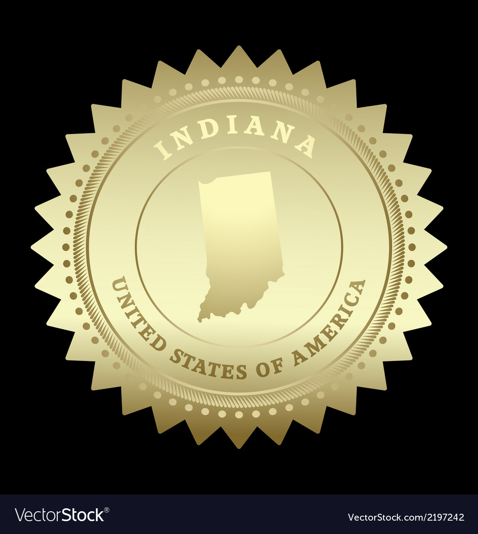 Gold star label indiana vector | Price: 1 Credit (USD $1)
