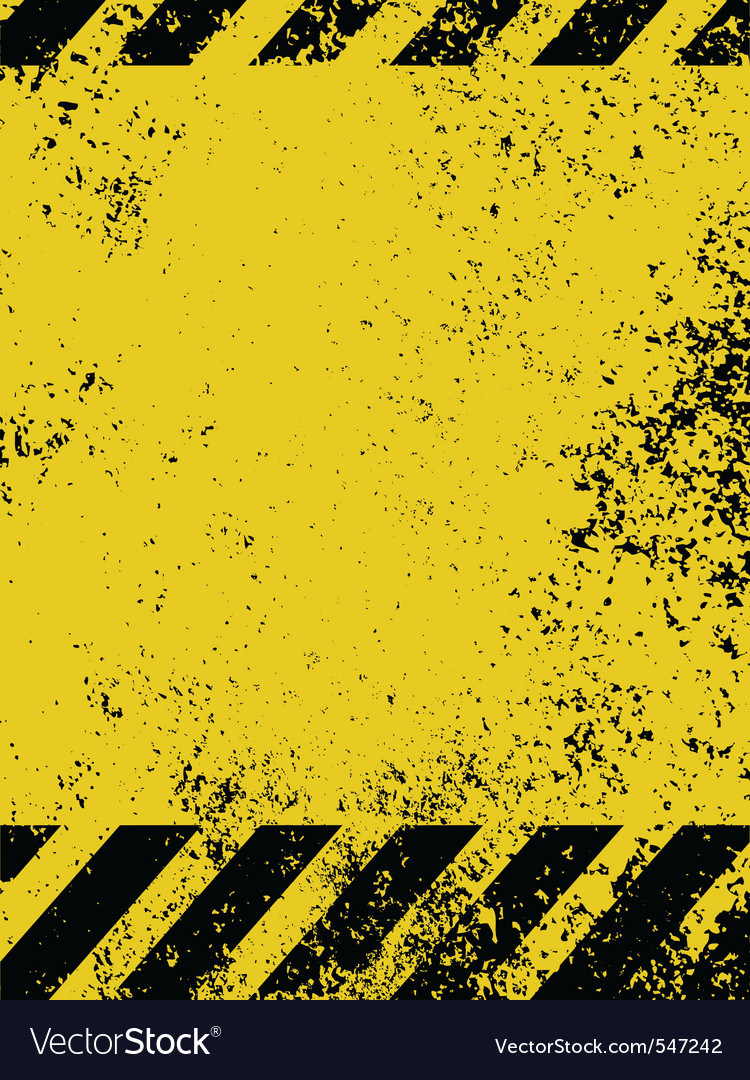 Grungy caution vector | Price: 1 Credit (USD $1)