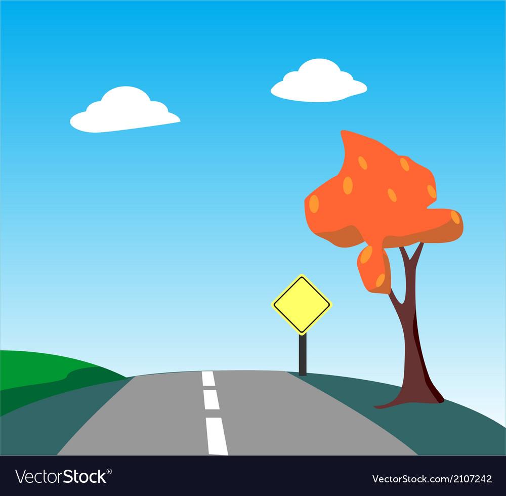 Highway road vector | Price: 1 Credit (USD $1)