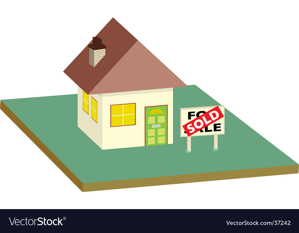 House sold garden vector | Price: 1 Credit (USD $1)
