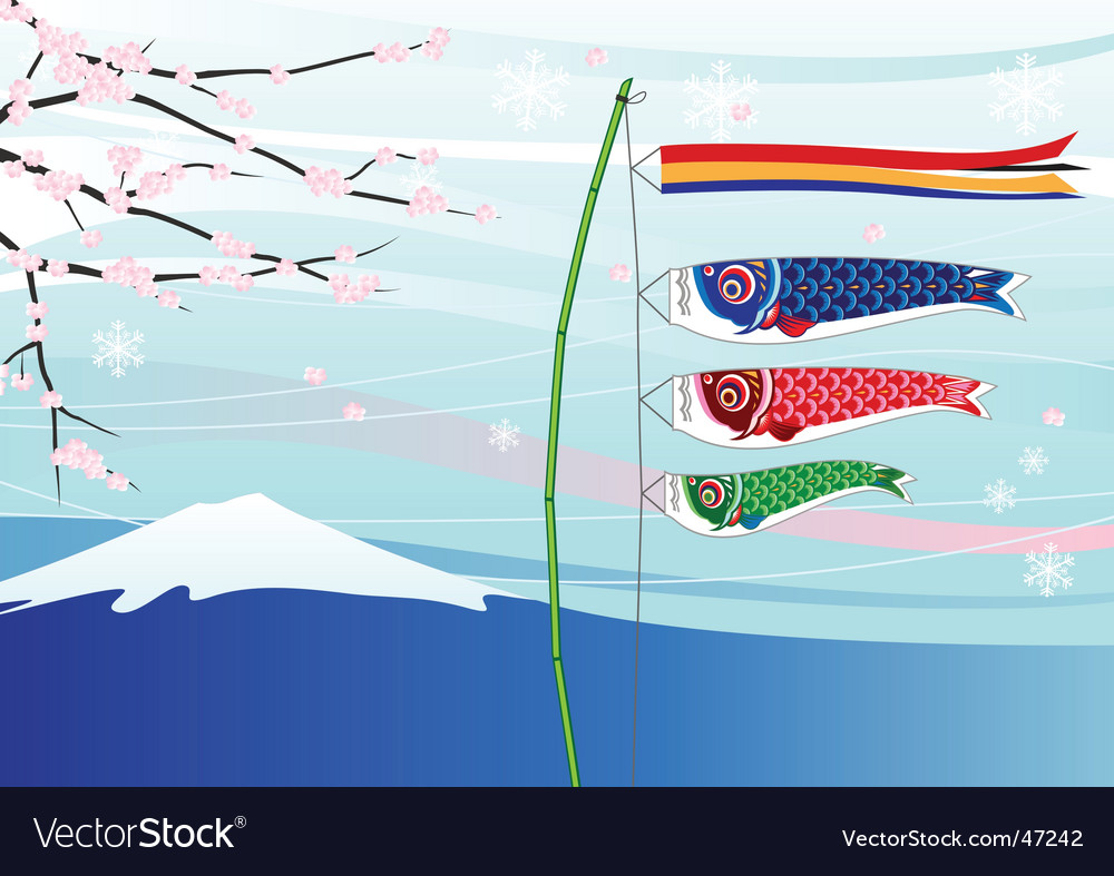 Koi flag vector | Price: 1 Credit (USD $1)