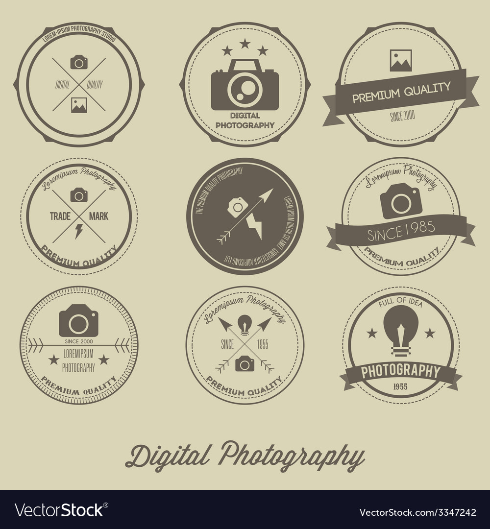 Photography vintage creative logo concept vector | Price: 1 Credit (USD $1)