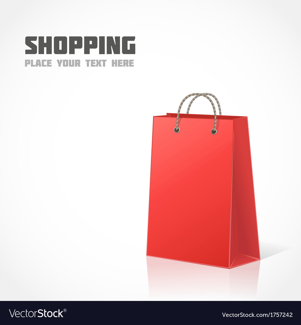 Red shopping bag vector | Price: 1 Credit (USD $1)